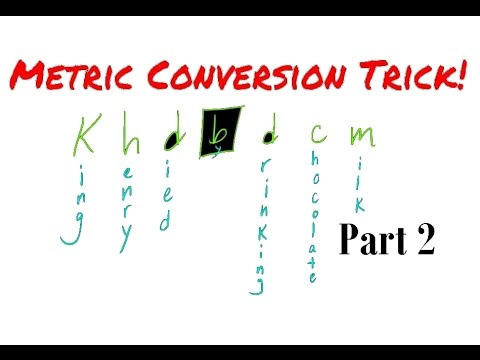 Metric Conversion Trick!!  Part 2