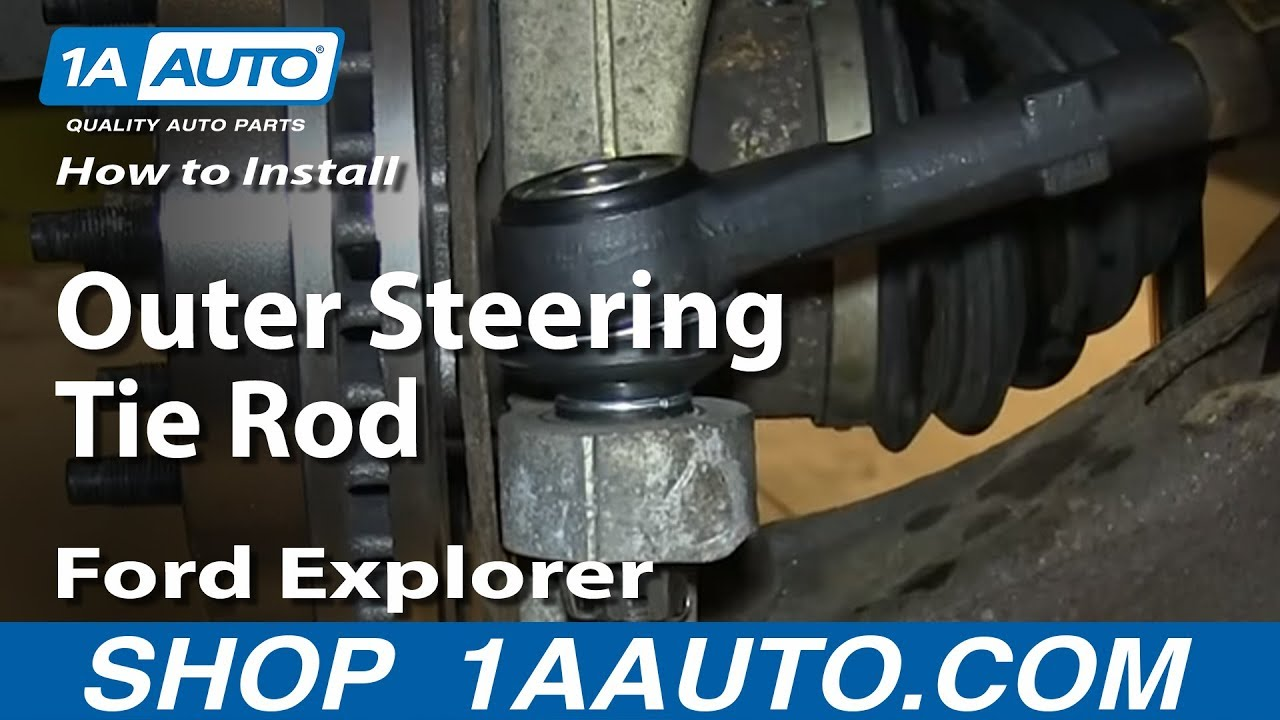 how to install replace outer steering tie rod 1998 2003 ford explorer mercury mountaineer youtube [ 1920 x 1080 Pixel ]
