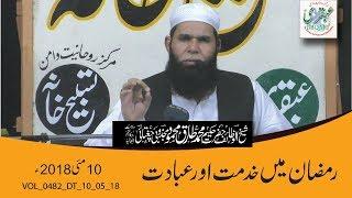 VOL_0482_DT_10_05_18 -- Ramzan Me Khidmat Or Ibadat --  Sheikh ul Wazaif