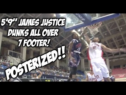 """POSTERIZED! 5'9"""" James Justice INSANE Facial on a 7 Footer!  #SCTOP10"""
