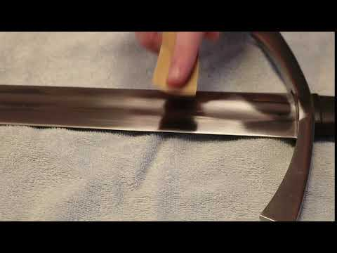 Removing Rust from Sword with 600 Sandpaper