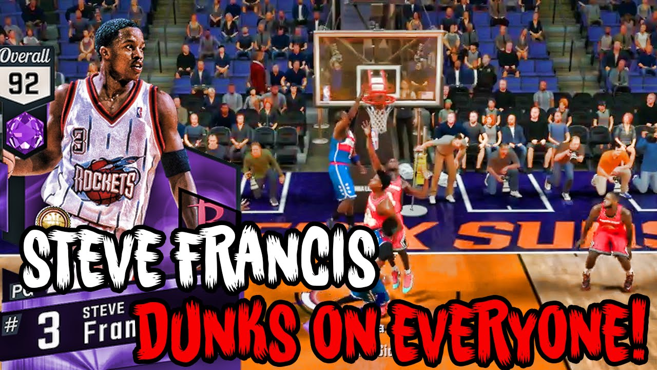 AMETHYST STEVE FRANCIS WITH A MONSTER DUNK NBA 2K17 Road To The