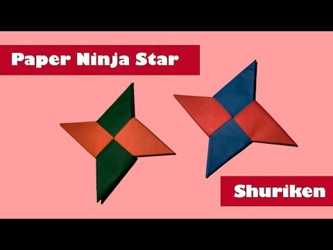Paper Ninja Star (Shuriken) Easy - Origami by Tubelife [2019]