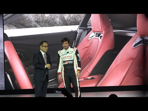 2020 Toyota Supra GR World debut feat. Fernando Alonso