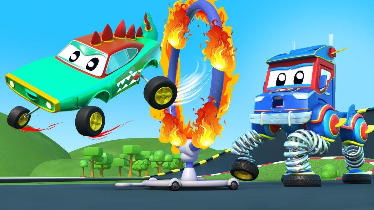 Go, SPRING TRUCK! Stop the CROCODILE!    Super Truck   Car City World App