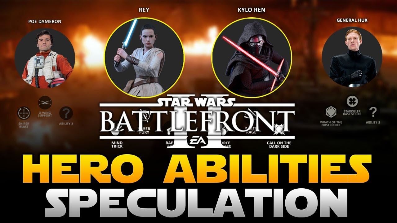 EA Star Wars Battlefront 2 Hero Abilities Speculation