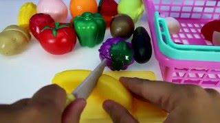 Делаем игрушечный салат, кукуруза клубника лук!!! Toy salad, corn, strawberries onions !!!