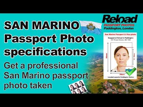 San Marino Passport Photo and Visa Photo snapped in Paddington, London