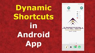 How to create Dynamic Shortcuts in Android App - Part 2