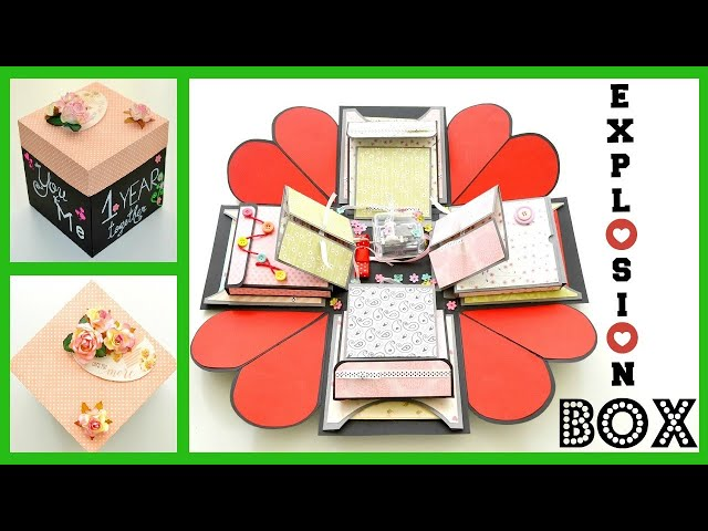 How to make Explosion Box for boyfriend | DIY Surprise Gift | Love Box Card