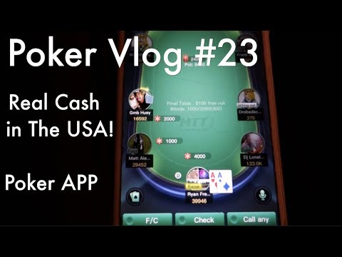 Poker Vlog #23  An App You Play For Real Cash in The USA!?  FINALLY....