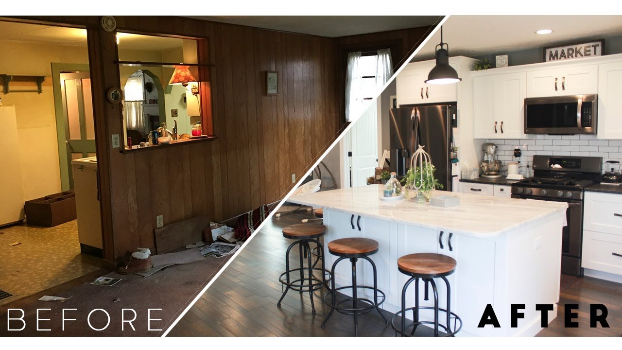 brown house renovation -the before and after