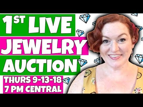 My 1st Live Jewelry Auction - YouTube Jewelry Sales Online