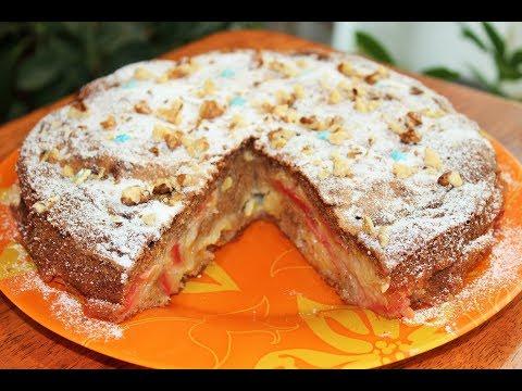 'ЛЕНИВАЯ' ШАРЛОТКА с РАНЕТКАМИ (или яблоками), вкусно и просто!