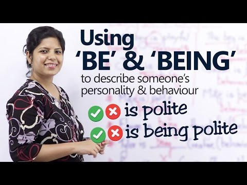 Using Verb forms 'To BE' & 'BEING' to describe someone's Personality – Basic English Grammar Lesson