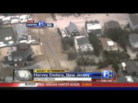Chopper 6 HD over damage in Harvey Cedars, NJ   Video   6abc com