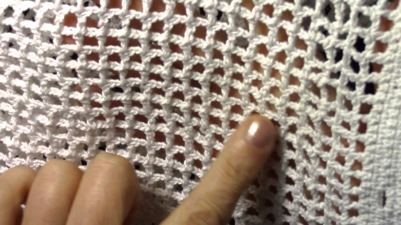 филейная сетка Crochet The Net Youtube