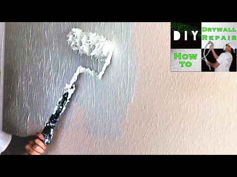 How to skim coat using paint roller trick- Getting rid of Knockdown Texture
