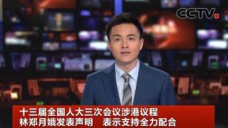 [中国新闻] 十三届全国人大三次会议涉港议程 林郑月娥发表声明 表示支持全力配合   CCTV中文国际