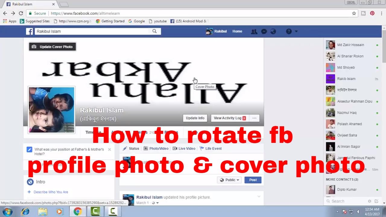 rotate photos on facebook