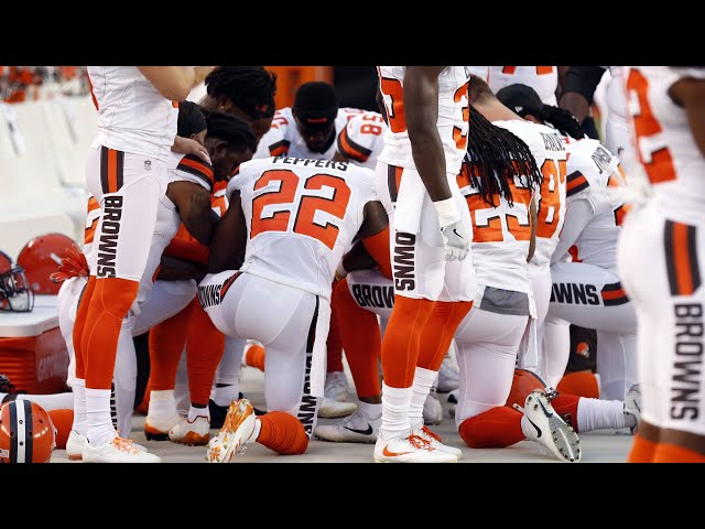 White Cleveland Browns Player   I Kneeled to Support My African American  Teammates   f8492d0a2