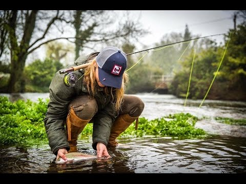 #20 Marina Gibson Fishing, Fly Fishing, Trout & Pike, Fisherwoman, Catch and release