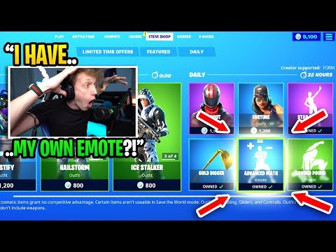 I REACTED To Getting MY OWN EMOTE In The Fortnite Item Shop... (best Emote Ever)
