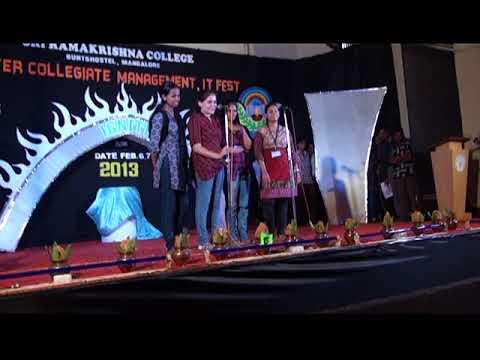 Sri Ramakrishna College Mangalore - IGNITE & ENIGMA 2013 Part -1