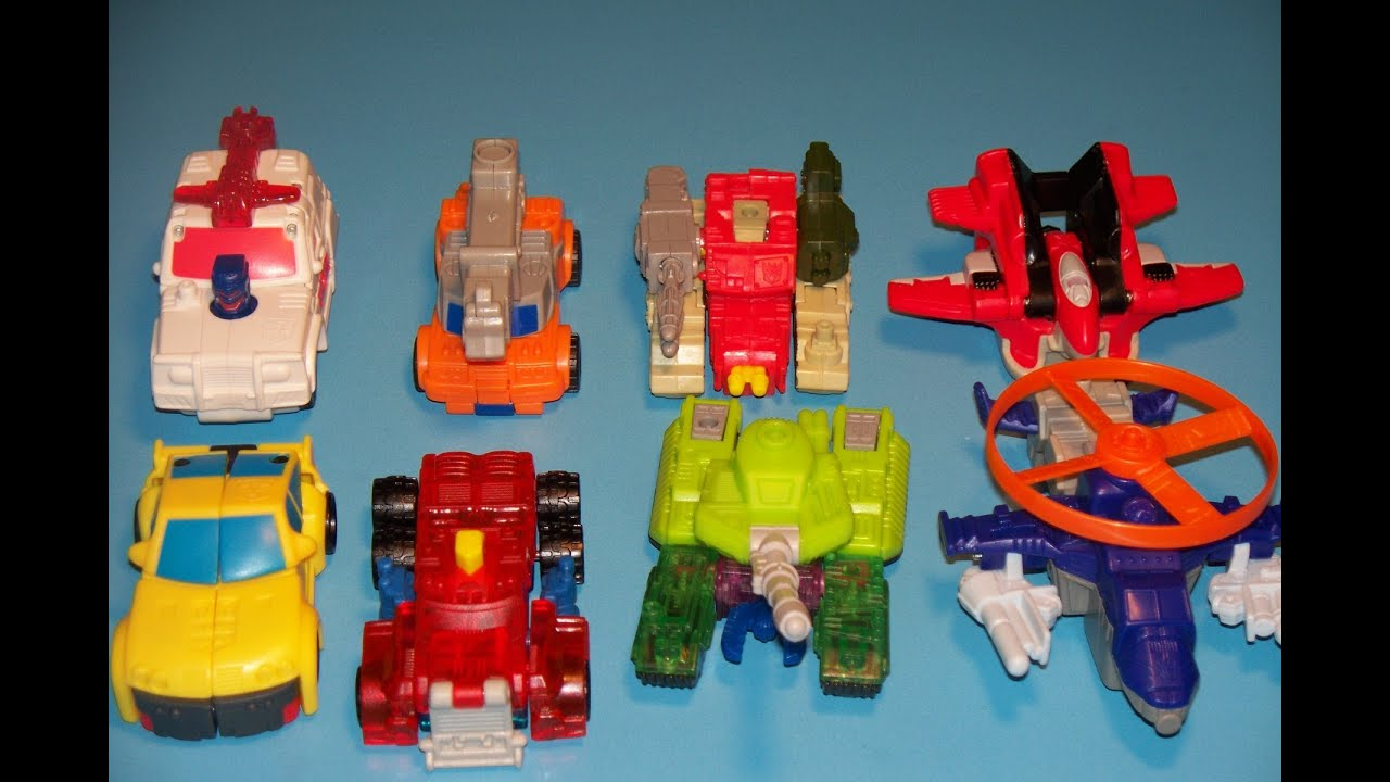 2002 Mcdonald S Transformers Armada Happy Meal Toy Set