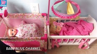 BABY ALIVE Doll Christmas Morning + Presents + Magical Scoops doll + Real Surprises Baby Alive doll
