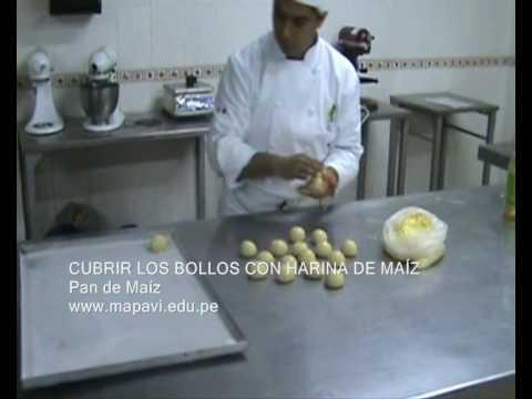 Instituto de Gastronomia MAPAVI - Preparacion del Pan de Maiz - Percy ...