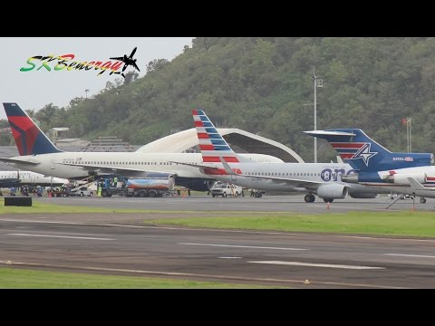 Busy Saturday Afternoon, A319,A320,727,737,757,777 @ St Kitts (HD 1080p) Epic !!!!