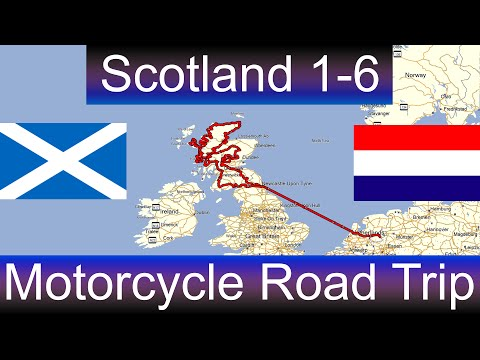The Great Scotland Motorcycle Road Trip - Part 1-6