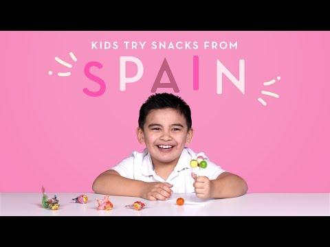 Kids Try Snacks From Spain | Kids Try | HiHo Kids