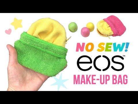 DIY No Sew EOS Makeup Bag!! Collab with Kimspired DIY!