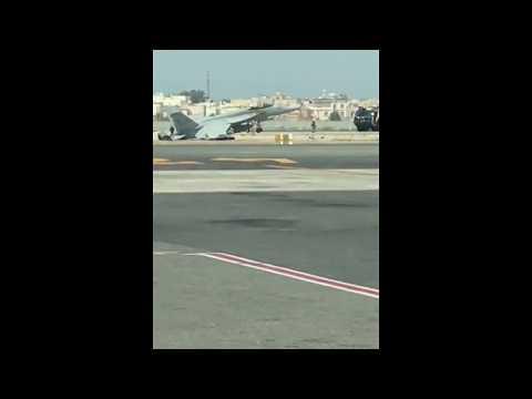 US fighter jet crash-lands at Bahrain International Airport