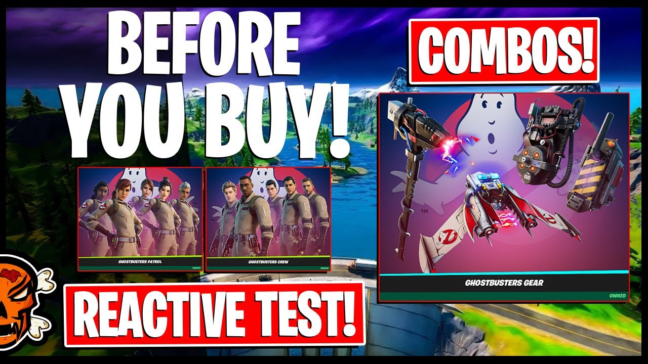 ghostbusters in fortnite reactive test gameplay combos youtube ghostbusters in fortnite reactive test gameplay combos