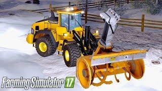 Farming Simultor 2017 - SNOW PLOWING! | VOLVO L150H & SNOWBLOWER