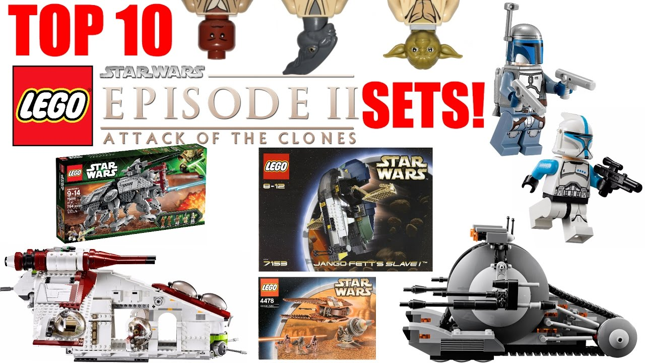 Top 10 Lego Star Wars Episode 2 Sets Attack Of The Clones Youtube