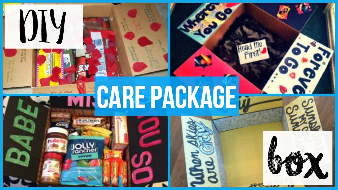 diy care package box youtube