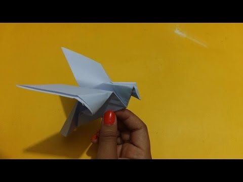 How To Make Dove Bird Origami Paper Crafts For Kids Youtube