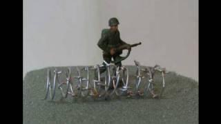 Make Barbed Wire  World War 2 Diorama Tutorial:Part 5