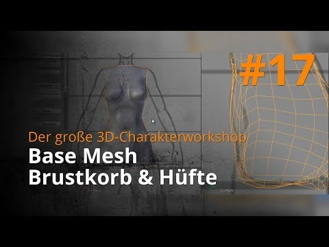 Blender 3D-Charakterworkshop Teil 1 | #17 - Base Mesh Brustkorb & Hüfte