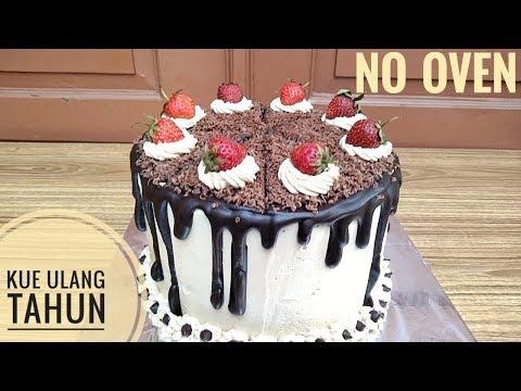 Resep Blackforest Sederhana Kue Ulang Tahun No Oven Youtube
