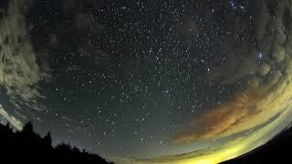 オリオン座流星群 2018年10月19日 東天