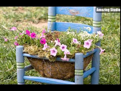 Kleine Und Kreativ Stuhl Pflanzer Fur Hausgarten Youtube