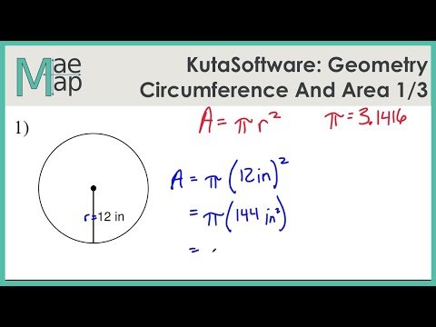 KutaSoftware: Geometry- Circumference And Area Of Circles Part 1
