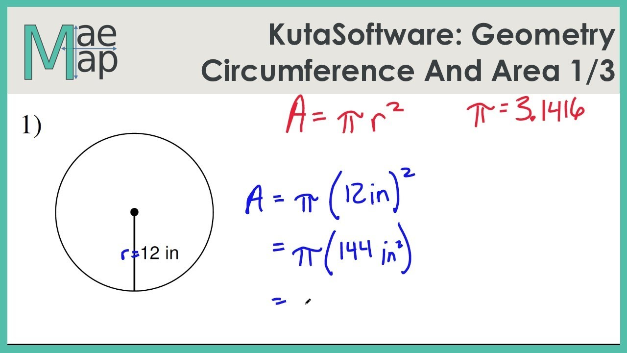 hight resolution of KutaSoftware: Geometry- Circumference And Area Of Circles Part 1 - YouTube