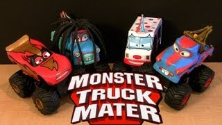 Power Punch Monster Truck Rasta Mater, I-Screamer, Tormentor 2013 Lightning McQueen Cars Toon Disney