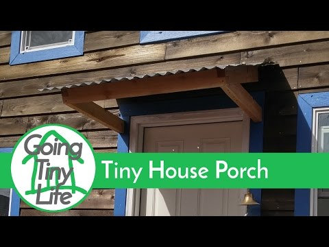 Tiny House Build - Removable Deck and Awning for Towing or Moving